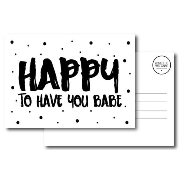kaart happy babe