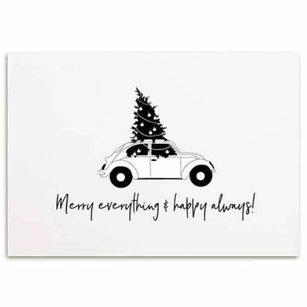 Zoedt Kerst Kaart Merry Everything