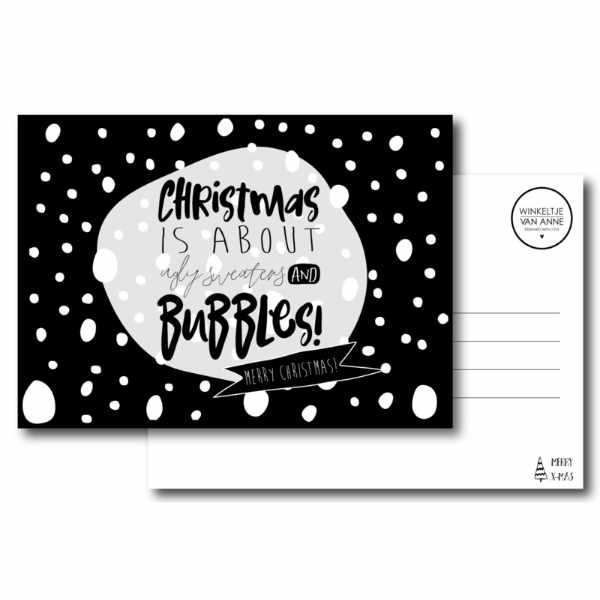 winkeltje van anne kerst kaart christmas bubbles