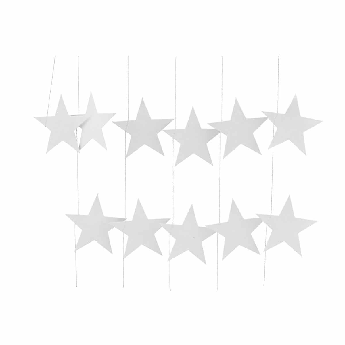 House Doctor kerstslinger Stars wit 500