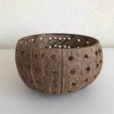 Yoshiko Kokosnoot waxinehouder met medium gaten