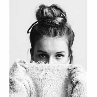 Via Martine Canvas Kaart Woman Bun