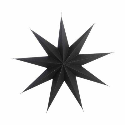 house doctor kerst ster zwart met 9-punten
