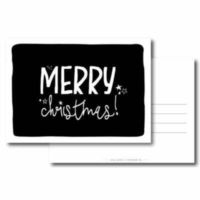 winkeltje van anne kerst kaart merry christmas zwart