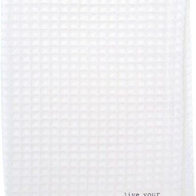 Puur Lifestyle Keukenhanddoek wafelstof Pure White