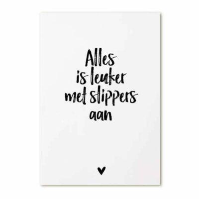 Zoedt Kaart Leuk met Slippers