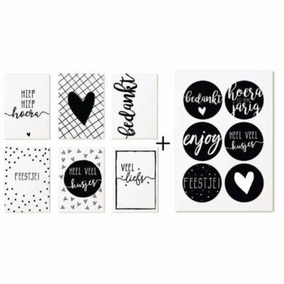 Zoedt Set Cadeaukaartjes Stickers