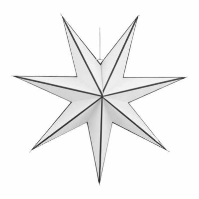 House Doctor ster 7-punten zwart wit large