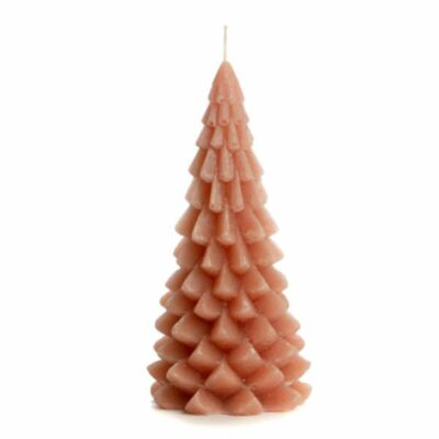 Rustik Lys kaars Kerstboom brique 20