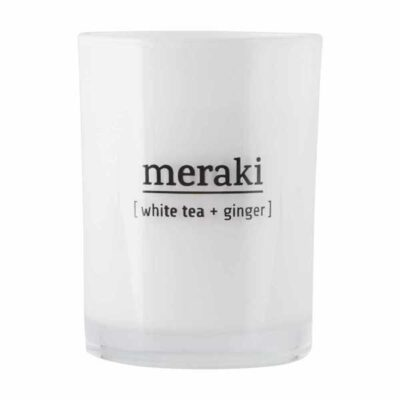 Meraki geurkaars White Tea + Ginger 8
