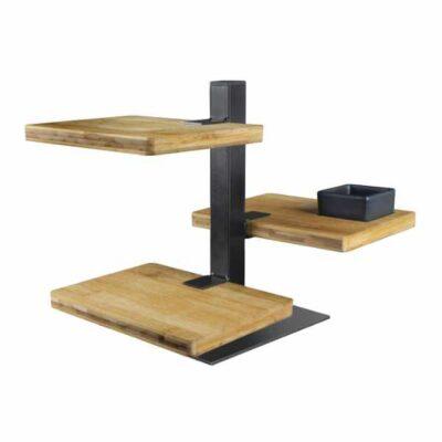 Gusta serveertoren 3 bamboe planken