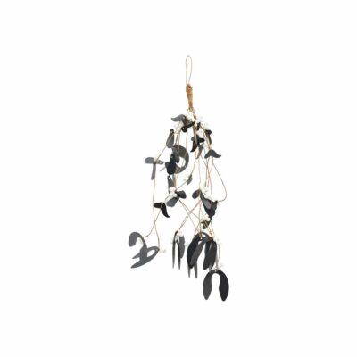 House Doctor ornament Mistletoe zwart