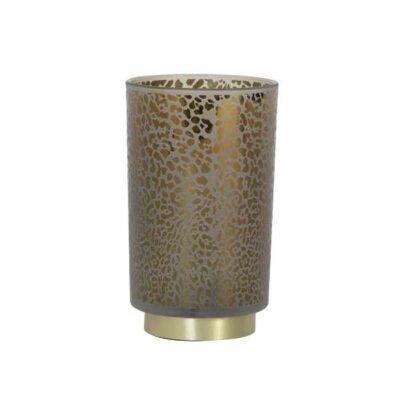 LED Tafellamp Leopard glas lichtgrijs 12