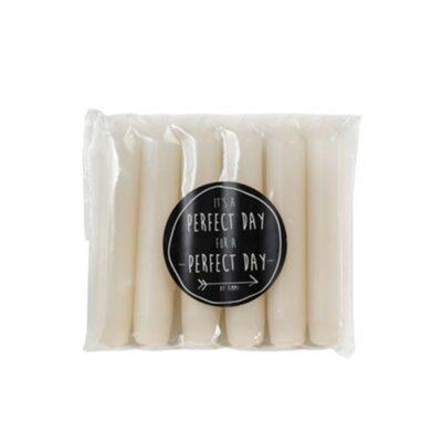 Rustik Lys dinerskaars blush 6-pack