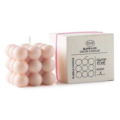 Bubbel kaars roze