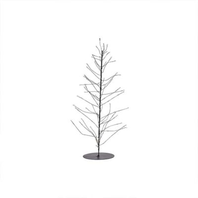 House Doctor Kerstboom Glow draad zwart klein met LED-lampjes